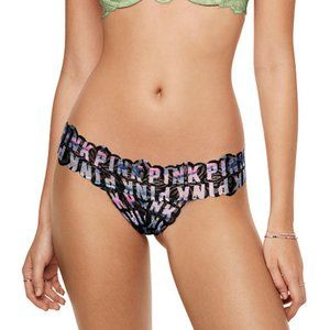 VS PINK Logo Multicolor Extra Low Rise Thong